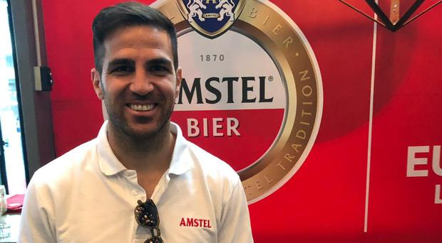Cesc Fabregas at an Amstel event in Baku (Amstel/PA)