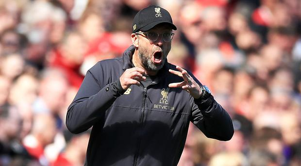 Liverpool manager Jurgen Klopp has not eased up on his players in training (Peter Byrne/PA)