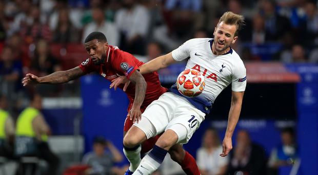 Harry Kane returned from a nine-game injury lay-off to start in the Champions League final (Mike Egerton/PA)