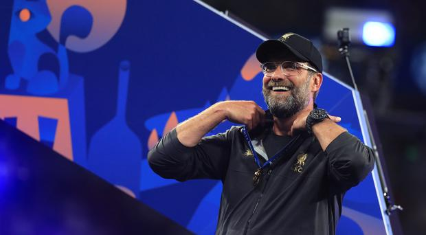 Liverpool manager Jurgen Klopp celebrates the victory in Madrid (Mike Egerton/PA)