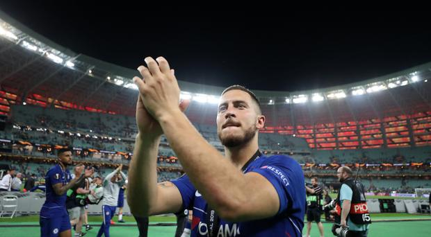 Chelsea's Eden Hazard has been heavily linked with a move to Real Madrid (Bradley Collyer/PA)