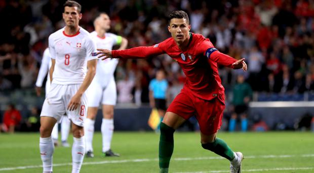 Cristiano Ronaldo (right) was again in superb form (Mike Egerton/PA)