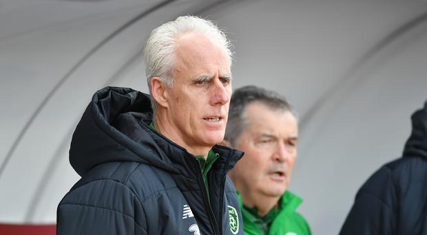 Republic of Ireland manager Mick McCarthy is hoping to preserve his 100 per cent record so far in Denmark. (Simon Galloway/PA)