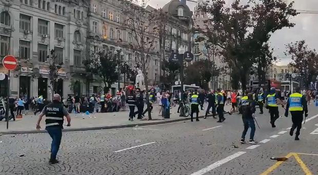 England fans have caused trouble in Porto over two nights. (Matt Brown)