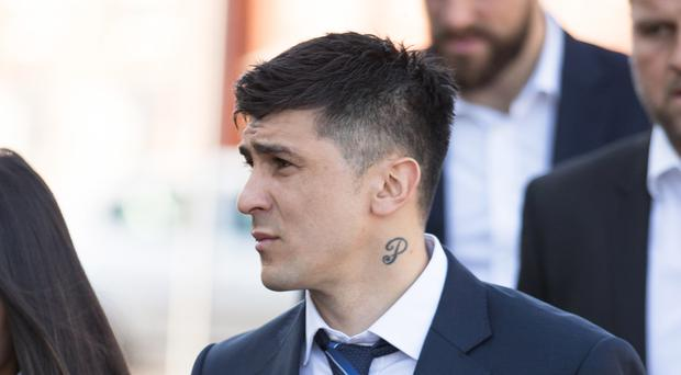 Fernando Forestieri arriving at Mansfield Magistrates' Court (Aaron Chown/PA)