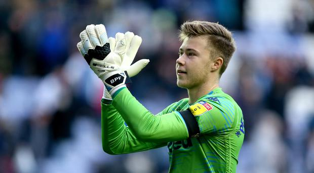 Leeds United goalkeeper Bailey Peacock-Farrell is thinking of the future (Richard Sellers/PA)