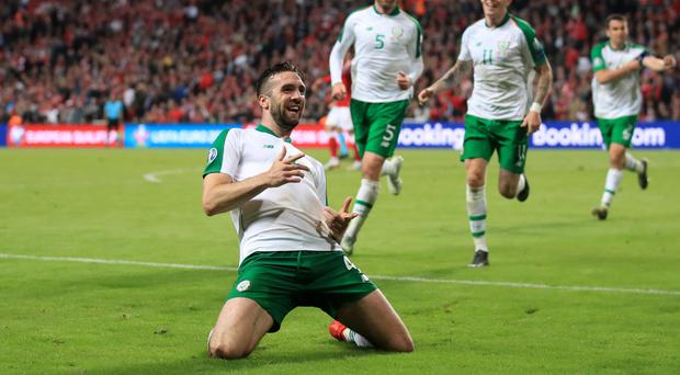 Shane Duffy came to the Republic of Ireland's rescue with his late goal (Bradley Collyer/PA)