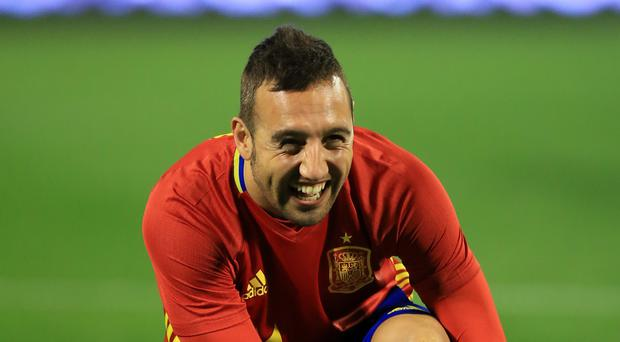 Santi Cazorla is enjoying life back in the Spain squad (Mike Egerton/PA)