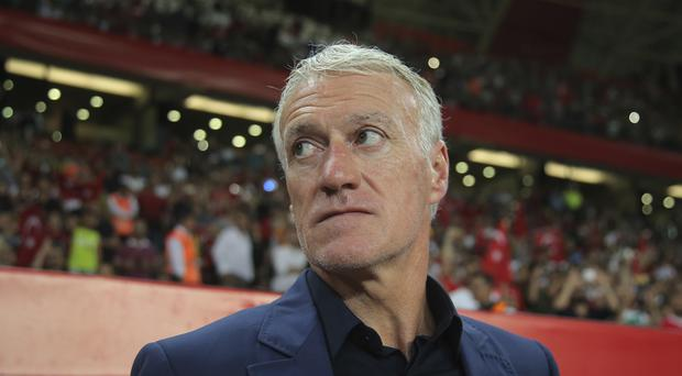 Didier Deschamps saw his side beaten in Turkey (AP)