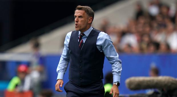 Phil Neville was not satisfied with England's performance in their win over Scotland (John Walton/PA)