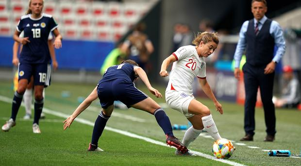 England beat Scotland 2-1 in their Women's World Cup group match (PA)