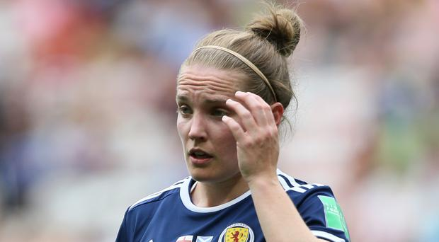 Kim Little says Scotland will take heart from their second-half showing against England (Richard Sellers/PA).