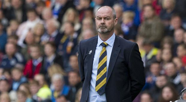 Steve Clarke is looking to cause an upset over Belgium. (Jeff Holmes/PA)
