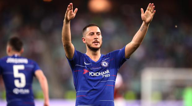 Eden Hazard is to be unveiled as a Real Madrid player on Thursday. (Adam Davy/PA)