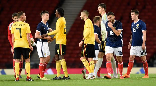Scotland were comfortably beaten by Belgium in their last encounter. (Ian Rutherford/PA)