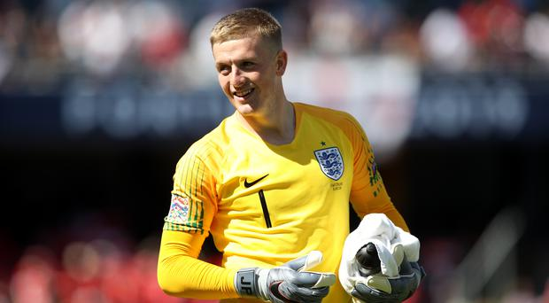 Jordan Pickford scored from the spot in the penalty shoot-out win over Switzerland (Tim Goode/PA)