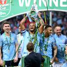 Manchester City won last season's Carabao Cup (Nigel French/PA)