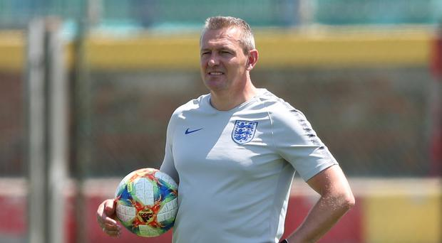 England Under-21s manager Aidy Boothroyd oversees training in Italy (Nick Potts/PA)