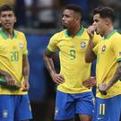 Roberto Firmino, Gabriel Jesus and Philippe Coutinho, left to right, all had goals disallowed for Brazil (Natacha Pisarenko/AP)
