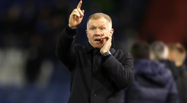 Paul Scholes had a brief spell in charge of Oldham (Simon Cooper/PA)