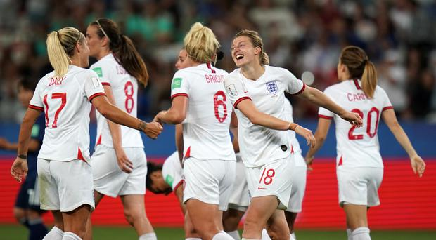 Ellen White celebrates scoring England's second goal (John Walton/PA)
