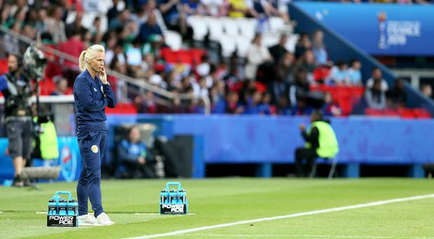 Scotland head coach Shelley Kerr was critical of the officiating during her side's draw with Argentina (Richard Sellers/PA)