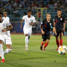 Reiss Nelson opened the scoring from the spot for England Under-21s against Croatia on Monday. (Nick Potts/PA)