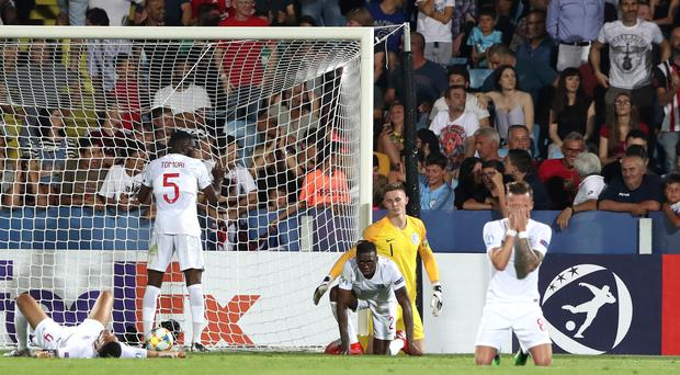Aaron Wan-Bissaka's own goal against France set the tone for England Under-21s' disappointing campaign. (Nick Potts/PA)