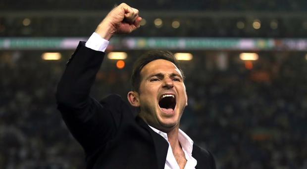 Derby boss Frank Lampard has permission to speak to Chelsea (Nick Potts/PA)