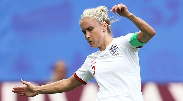 England's Steph Houghton is a doubt for the Norway clash (Richard Sellers/PA)