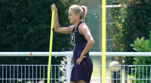 Steph Houghton trained fully despite an ankle knock (John Walton/PA)