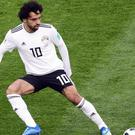 Mohamed Salah gave Egypt a two-goal cushion before half-time (Owen Humphreys/PA)