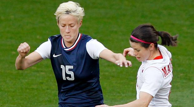 Megan Rapinoe stands by her comments about refusing to go to the White House (Peter Byrne/PA)