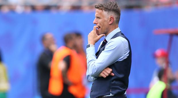England coach Phil Neville was delighted to have made it to the semi-finals of the Women's World Cup (Richard Sellers/PA)