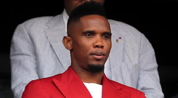 Samuel Eto'o dropped in on the Indomitable Lions (Richard Sellers/PA)