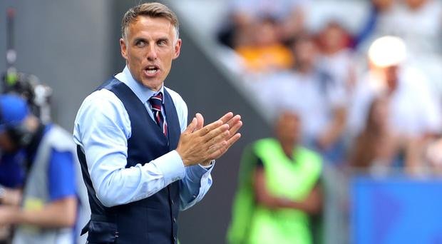 England head coach Phil Neville feels his squad can grow from their experiences in France (Richard Sellers/PA)
