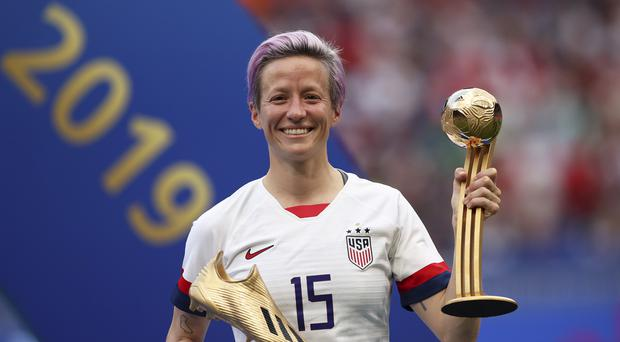 Megan Rapinoe played a key role as the USA retained their Women's World Cup title (Francisco Seco/AP)