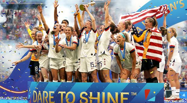 The United States lifted the Women's World Cup trophy for the fourth time (PA)