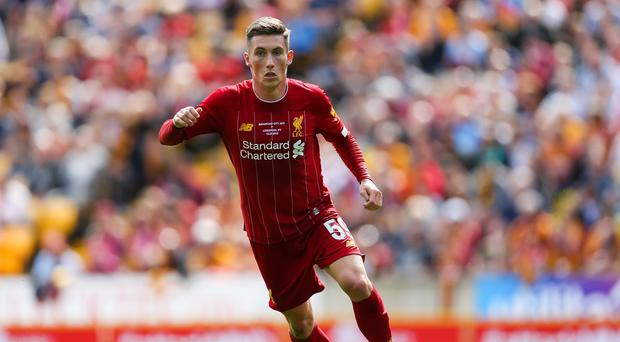Liverpool's Harry Wilson pulled one back for Liverpool but saw his side defeated 3-2 (Barrington Coombs/PA)