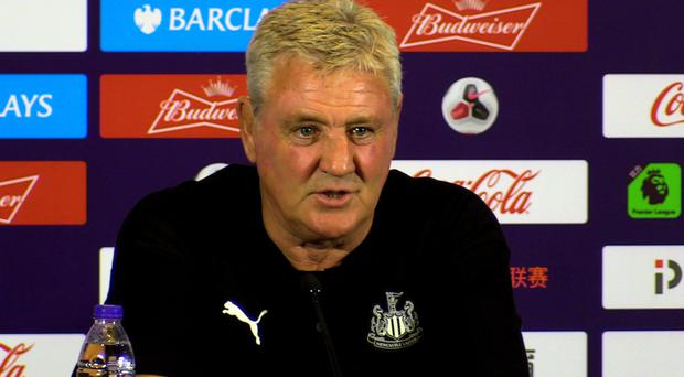 Newcastle United manager Steve Bruce during a press conference in Shanghai.