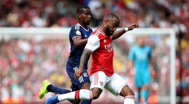 Arsenal's Alexandre Lacazette was injured in Sunday's friendly defeat to Lyon (Nick Potts/PA)