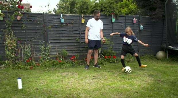 A survey by the Football Association revealed the back garden came out on top in the most popular location for a kickabout (FA SuperKicks Handout/PA Images)