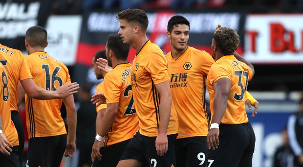 Raul Jimenez scored twice in Wolves' 4-1 win on Thursday (Liam McBurney/PA)