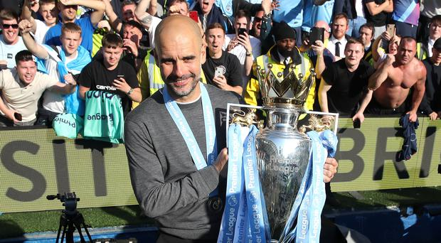 Pep Guardiola would not swap his trophies for the Champions League (Nick Potts/PA)
