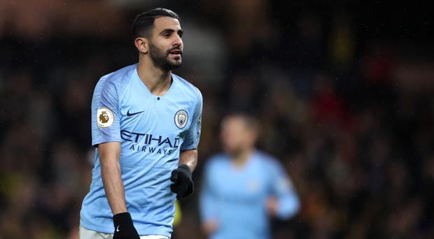 Manchester City forward Riyad Mahrez was left out of the Community Shield squad because he was a risk for doping control, according to manager Pep Guardiola (Nick Potts/PA)