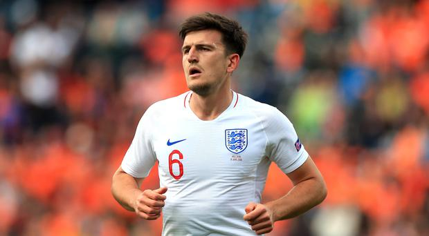 England centre-half Harry Maguire has become the most expensive defender in the world by joining Manchester United (Mike Egerton/PA)