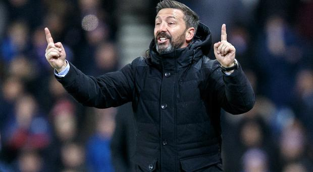 Aberdeen manager Derek McInnes saw his side lose their Europa League tie to Rijeka 2-0 in Croatia (Robert Perry/PA)