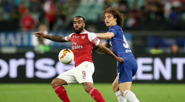 David Luiz has swapped Chelsea for Arsenal (Bradley Collyer/PA)