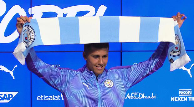 Rodri joined Manchester City in the summer (Andy Hampson/PA)