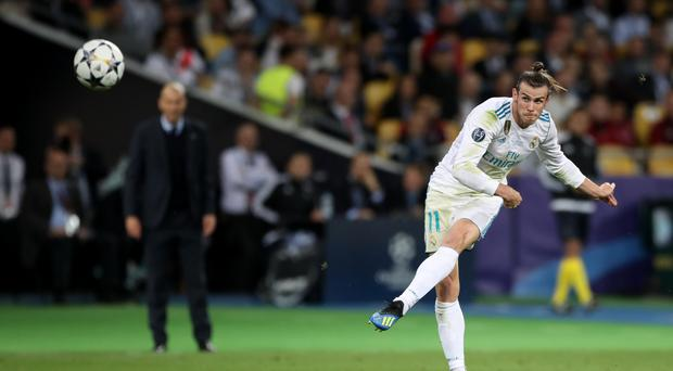 Zinedine Zidane has included Gareth Bale in his squad to face Roma on Sunday night (Nick Potts/PA)